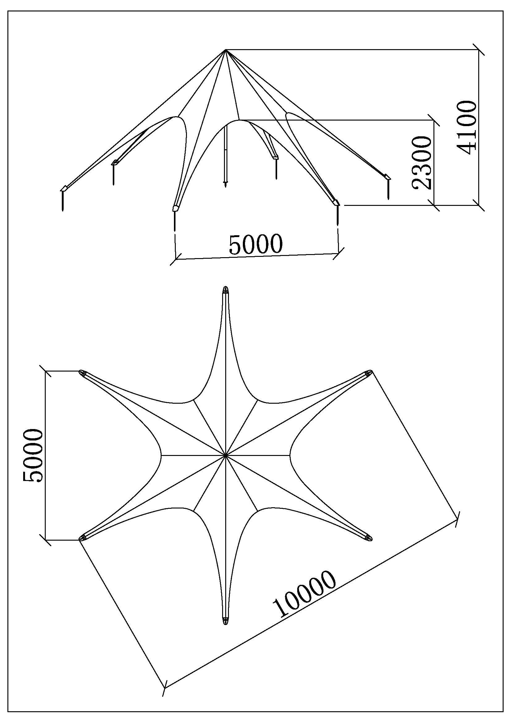 star tente 10m