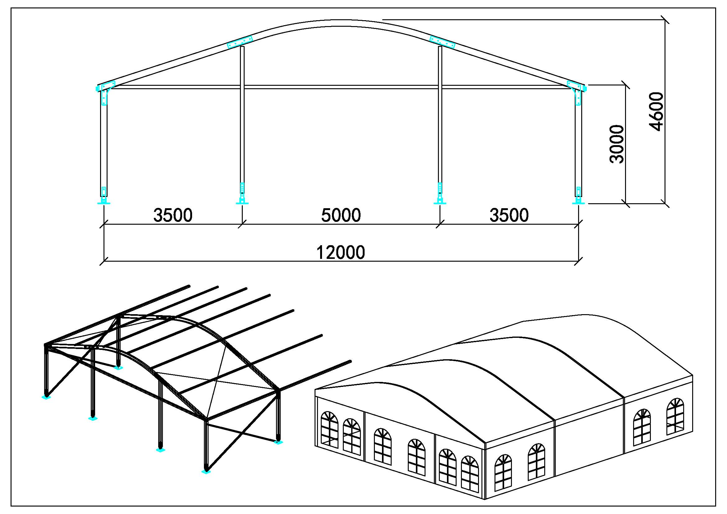 Tente dôme 12m
