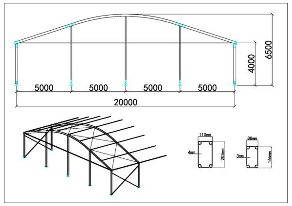 Tente dôme 20m