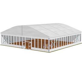 Chapiteaux toit Arqué