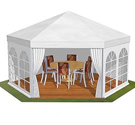 Tentes Polygone toit Plat