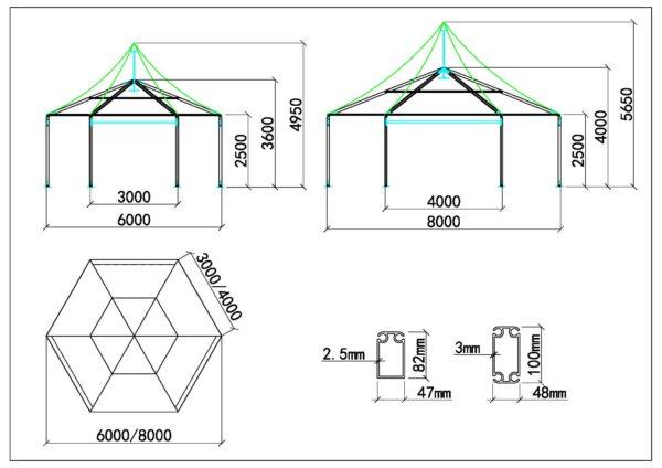 Polygone haut pic 6m-8m