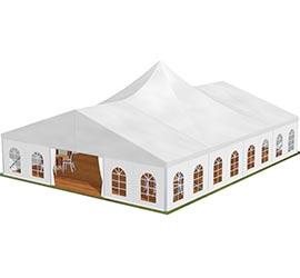 Chapiteaux Bi-pente toit Pagode